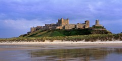 Panorama of Bamburgh Castle
